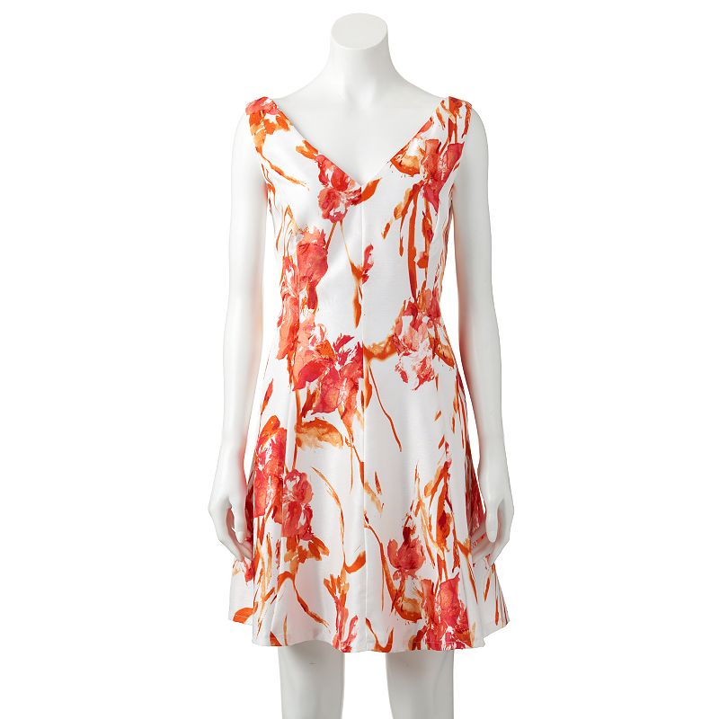 Women's Tiana B Floral Fit & Flare Dress