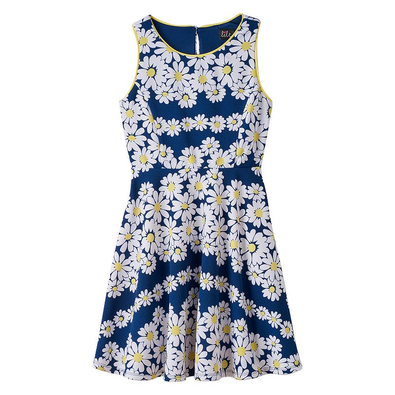Girls 7-16 lilt Daisy Skater Dress