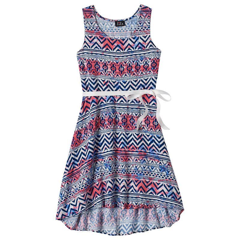 Girls 7-16 lilt Graphic Print Sleeveless Dress