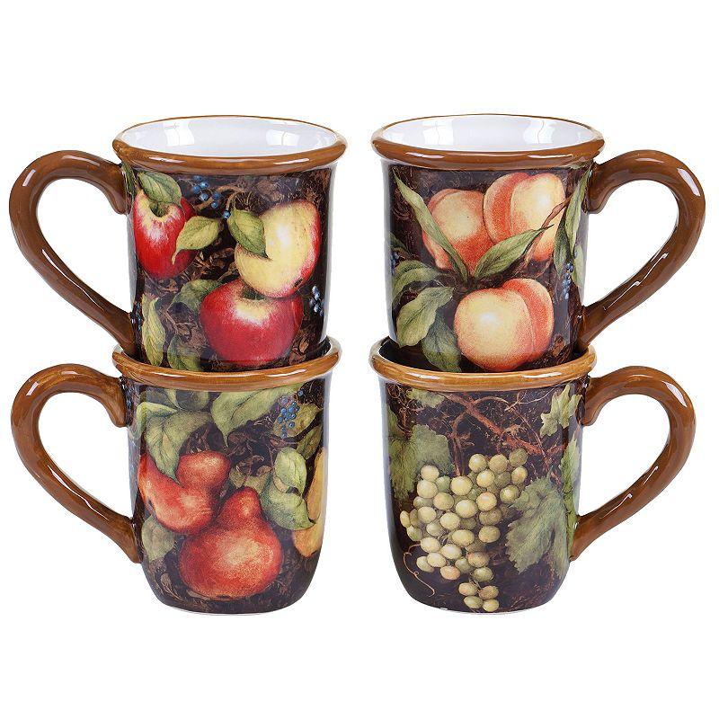 Certified International Capri 4-pc. Coffee Mug Set