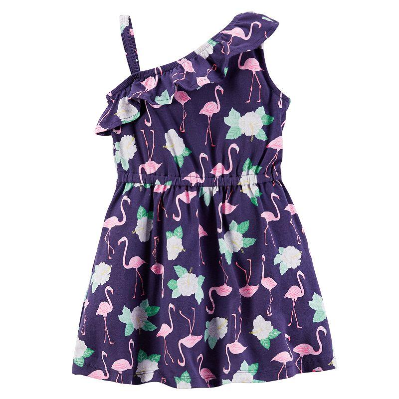 Toddler Girl Carter's Asymmetrical Ruffled Dress