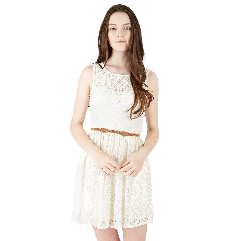 Juniors White Cotton Dress | Kohl's