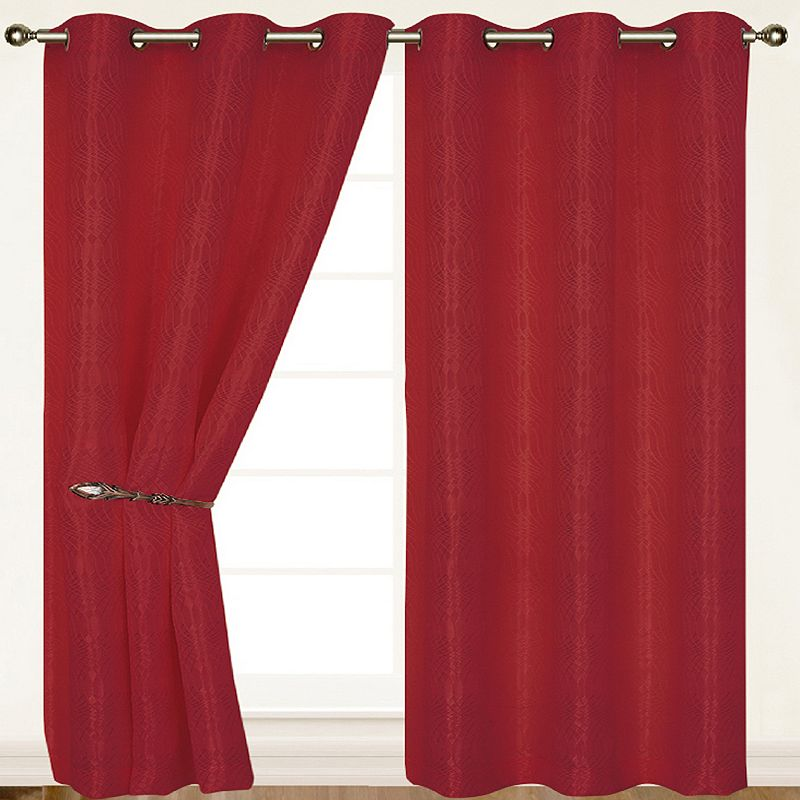 Dainty Home 2-pack Helen Curtains - 55'' x 84''