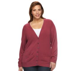 Plus Size Croft & Barrow® Cozy Essential Solid Cardigan