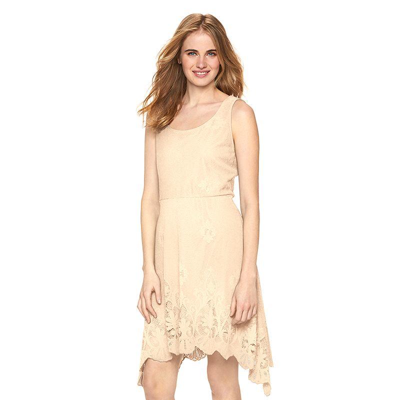 Women's LC Lauren Conrad Lace Handkerchief Hem Dress