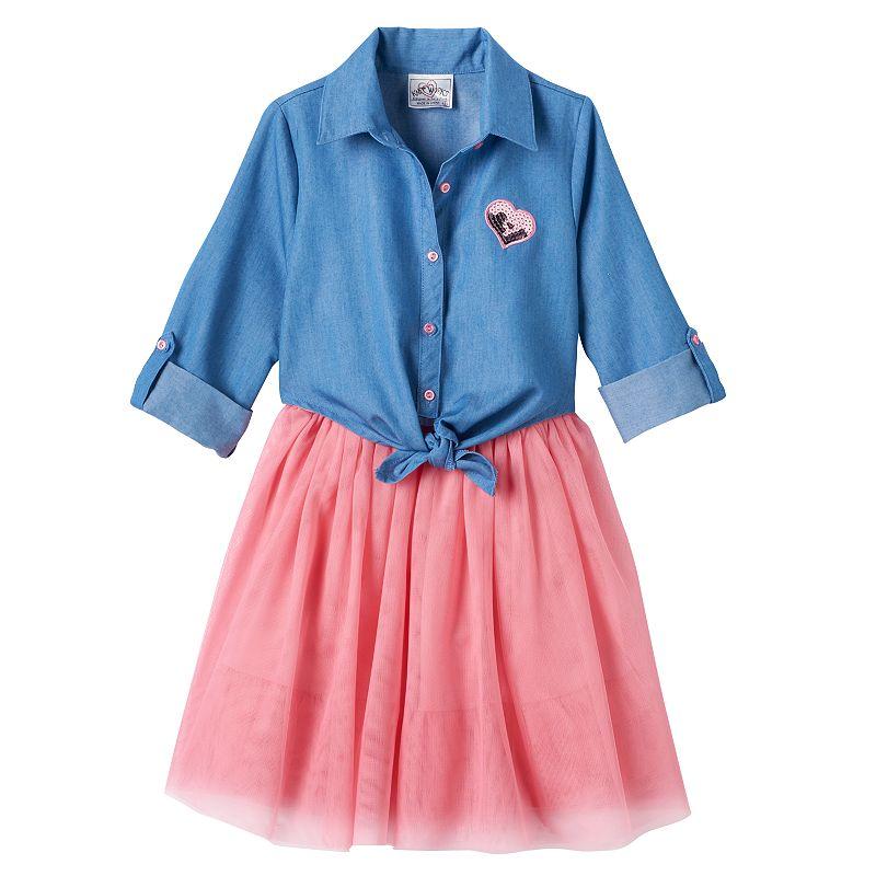Girls 4-6x Knitworks Mock-Layer Tank Dress