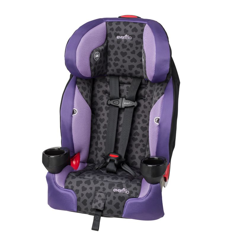 Evenflo SecureKid LX Anna Booster Car Seat, Purple