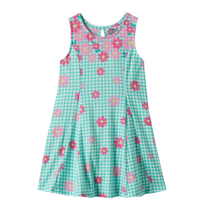 Girls 4-6x Knitworks Floral Plaid Dress