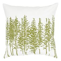 Rizzy Home Pine Tree Silhouette Throw Pillow