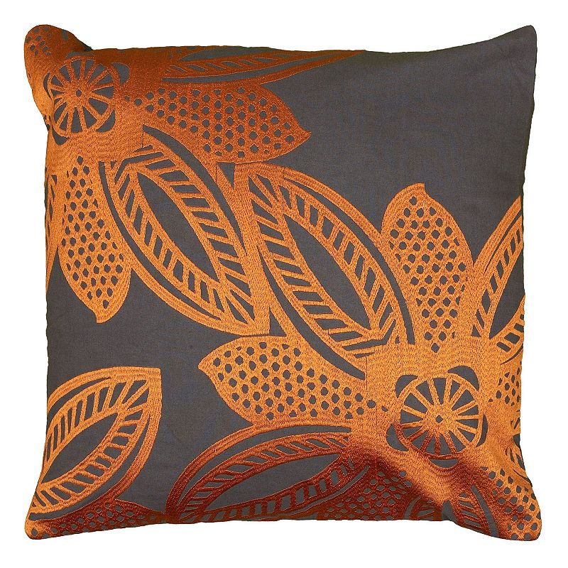 Rizzy Home Contemporary Floral Throw Pillow