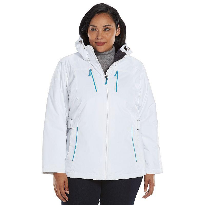 Plus Size ZeroXposur Hooded Storm Shield Jacket