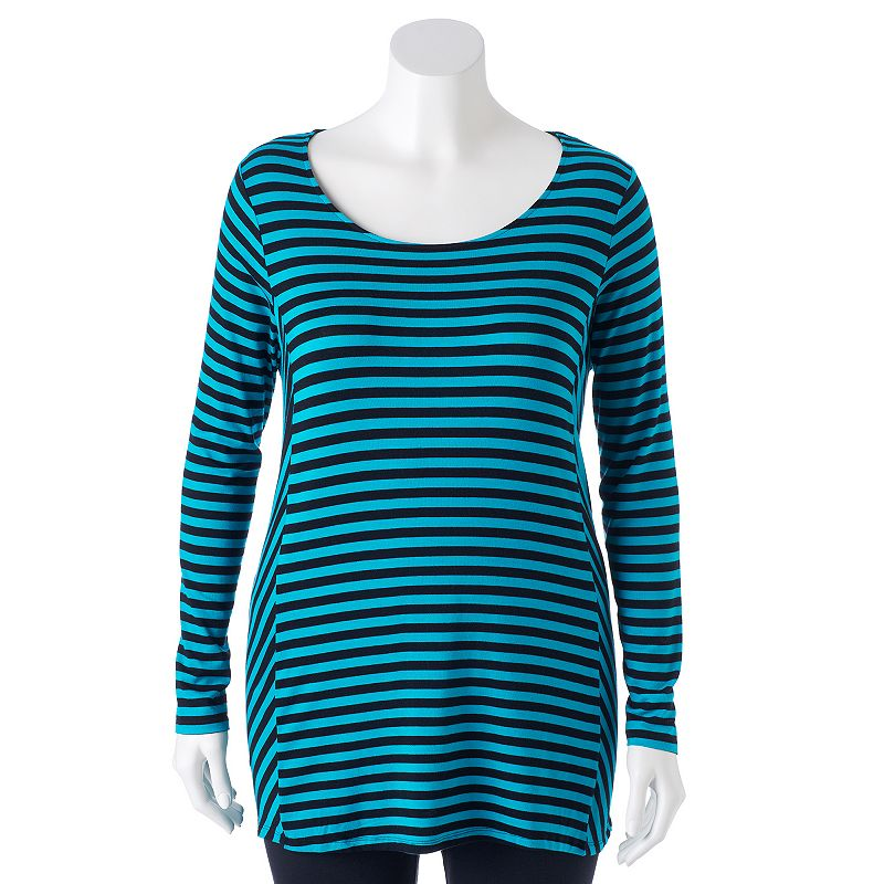 Plus Size Apt. 9® Striped Trapeze Tee