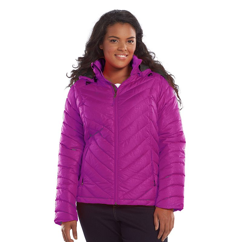 Plus Size Tek Gear® Hooded Packable Quilted Puffer Jacket