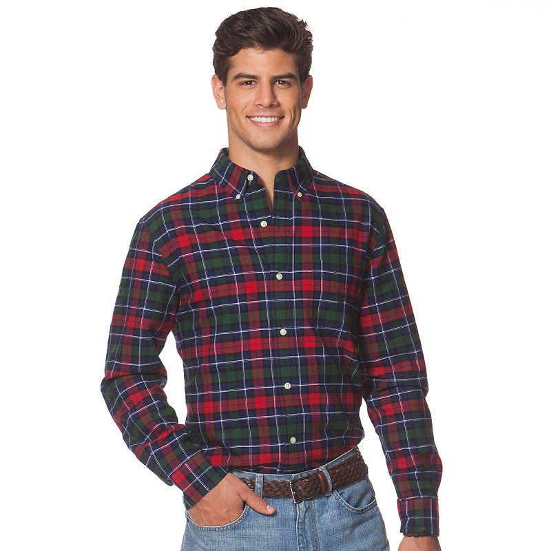 Men's Chaps Classic-Fit Tartan Plaid Oxford Button-Down Shirt