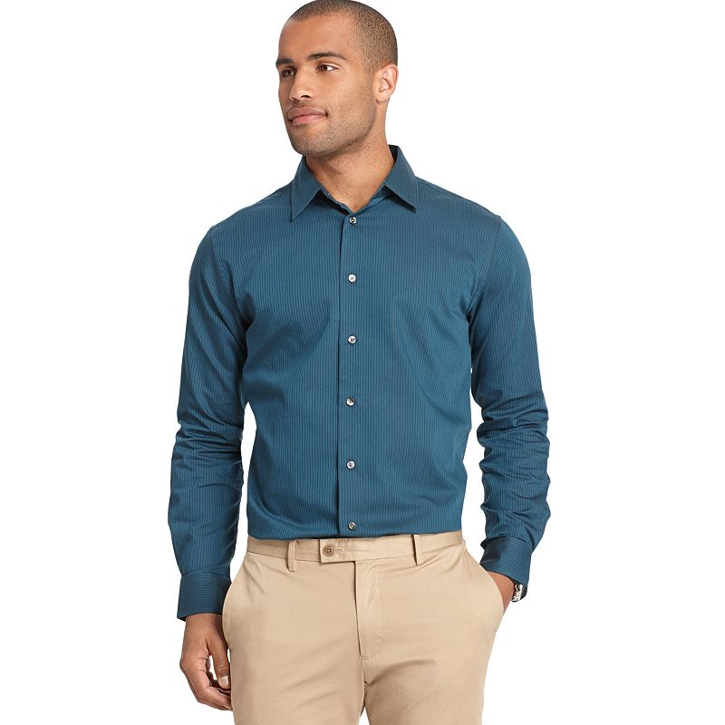 Big & Tall Van Heusen Classic-Fit Striped Button-Down Shirt