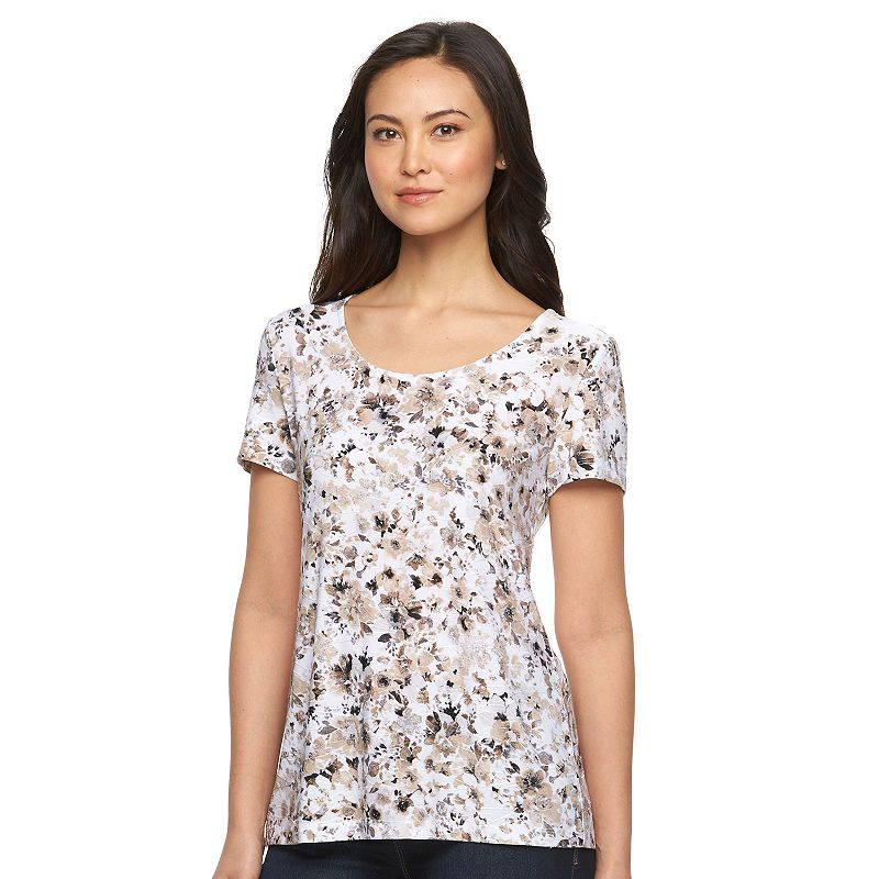 Women's Croft & Barrow® Jacquard Wave Top