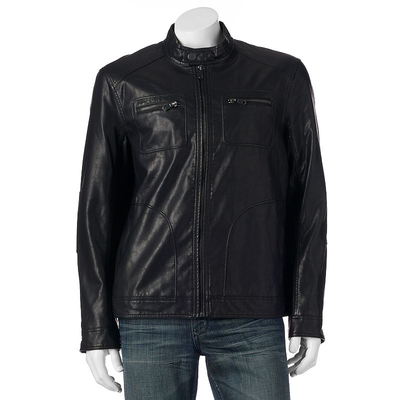 Big & Tall Marc Anthony Faux-Leather Moto Jacket