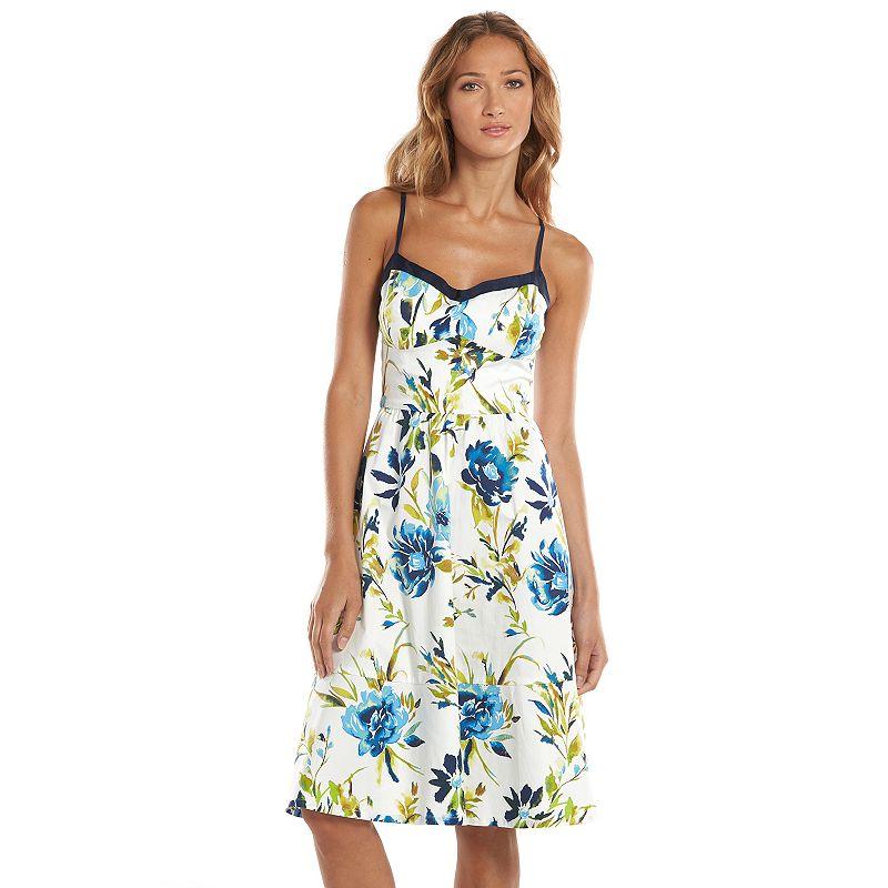 Allen B Floral Fit & Flare Dress - Women's