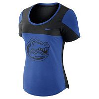 Women's Nike Florida Gators Enzyme-Washed Colorblock Tee