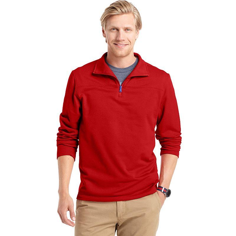 Big & Tall IZOD Solid Quarter-Zip Fleece Pullover