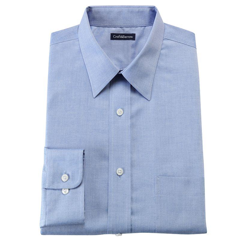 Men's Croft & Barrow® Classic-Fit No Iron Dress Shirt