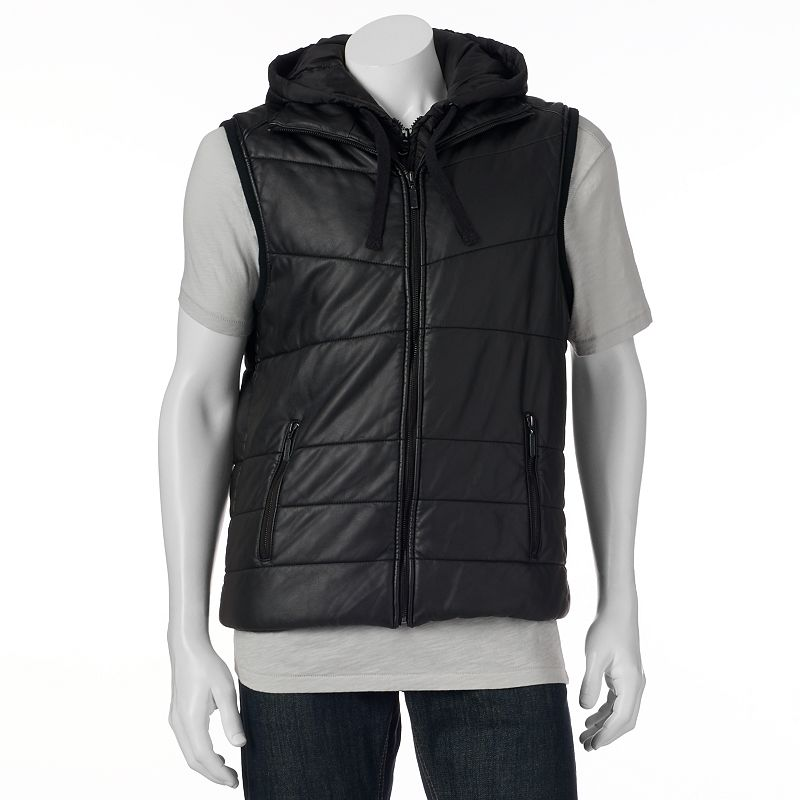 Men's Marc Anthony Faux-Leather Quilted Vest