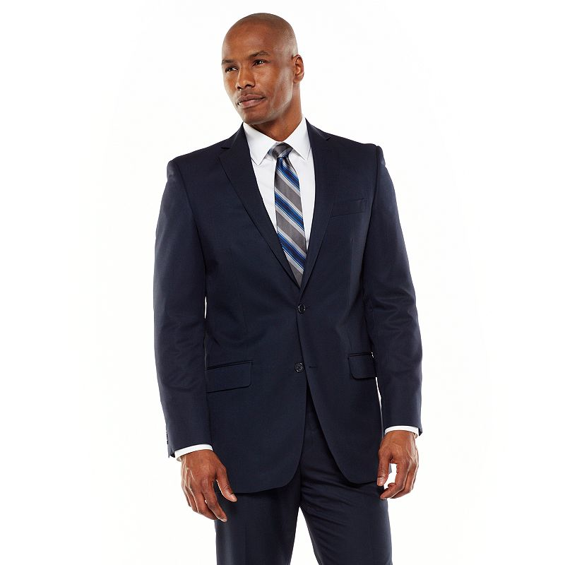Men's Apt. 9® Modern-Fit Shadow Striped Navy Suit Jacket