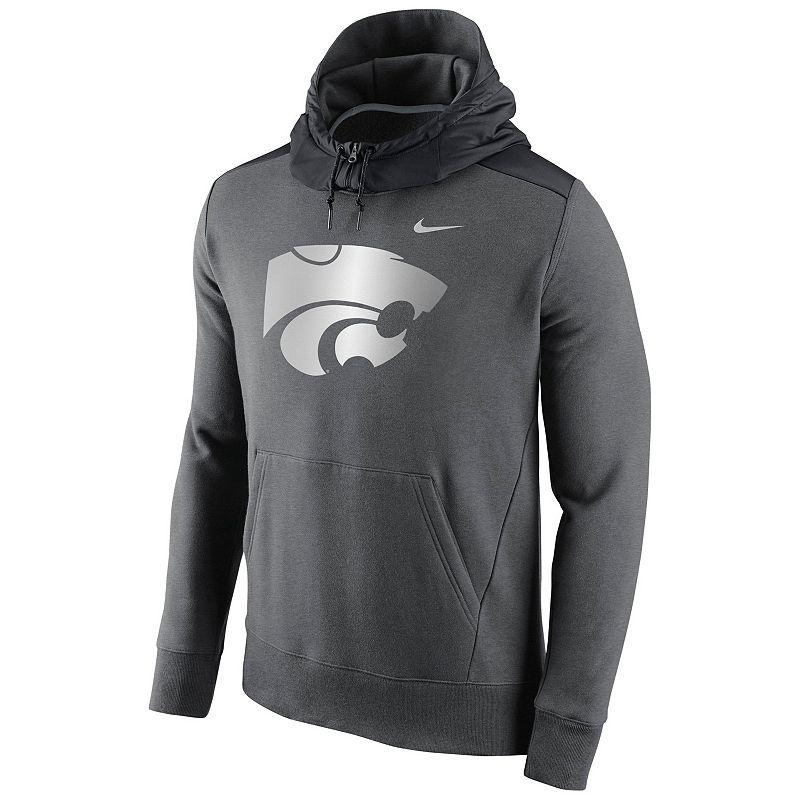 Men's Nike Kansas State Wildcats Hybrid Fleece Hoodie