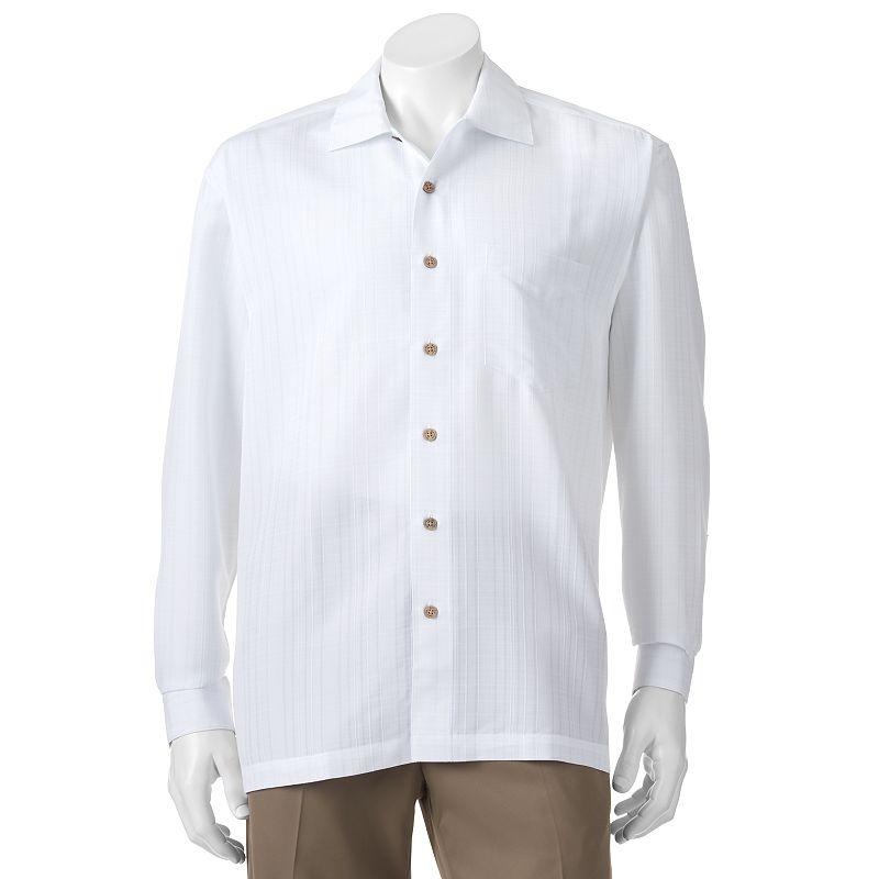 Big & Tall Batik Bay Plaid Textured Casual Button-Down Shirt