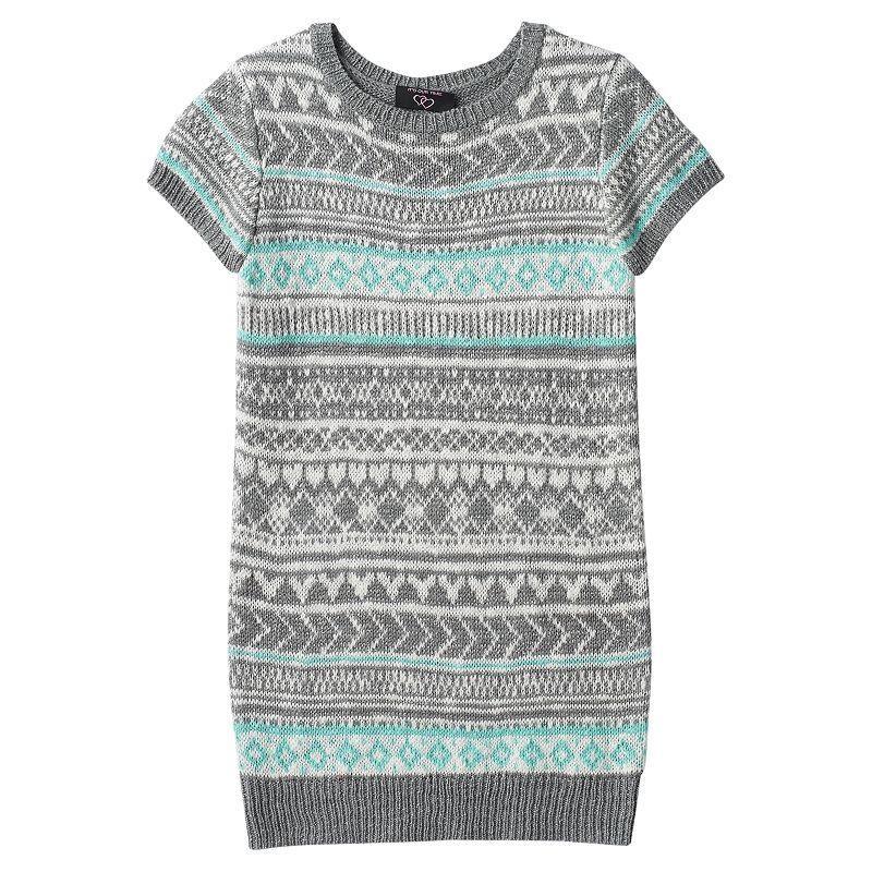 Girls 7-16 & Plus Size It's Our Time Sweater Knit Fairisle Tunic