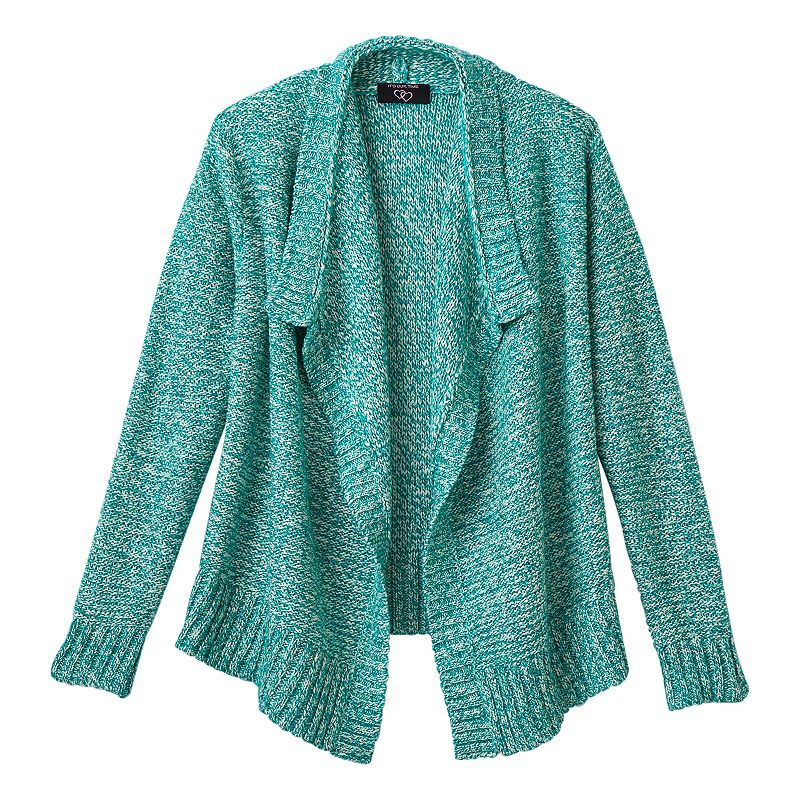 Girls 7-16 & Plus Size It's Our Time Marled Cascade Cardigan