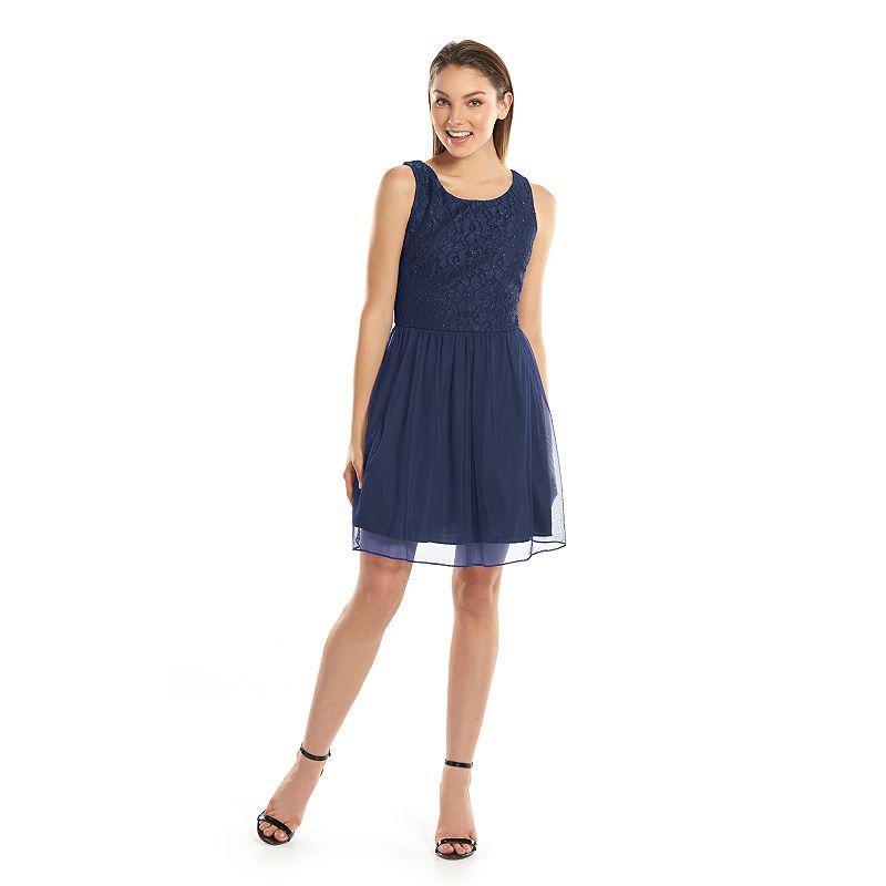 Kohl S Dresses For Weddings: Juniors Navy Sleeveless Dress
