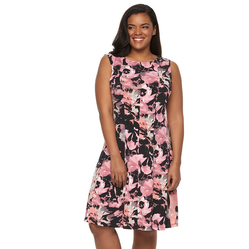 Plus Size Connected Apparel Printed Shift Dress