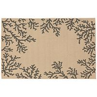 Trans Ocean Imports Liora Manne Terrace Coral Border Indoor Outdoor Rug