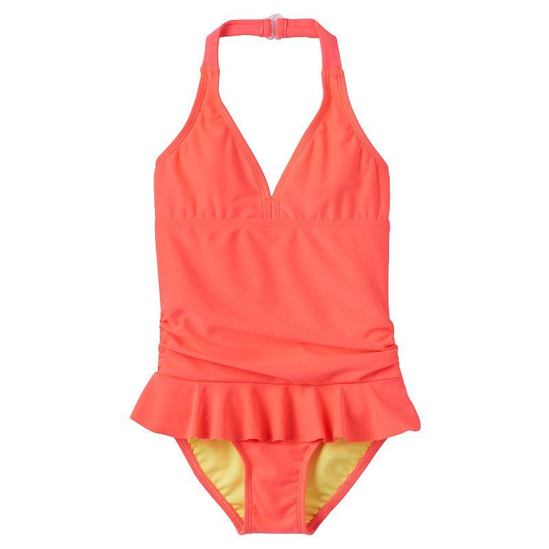 Girls 4-6x St. Tropez One-Piece Halter Swimsuit