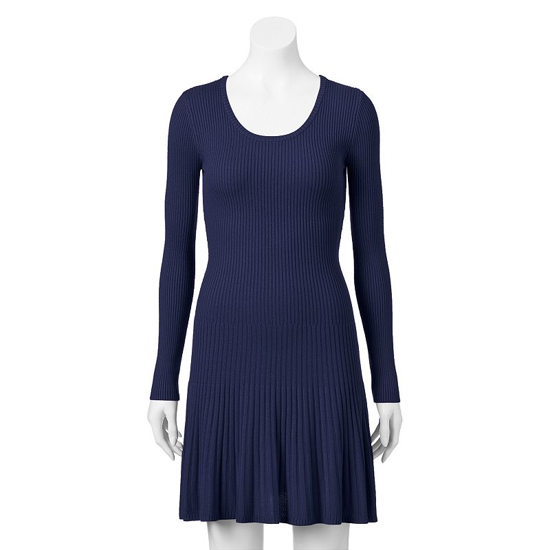 Juniors' Say What? Fit & Flare Sweaterdress