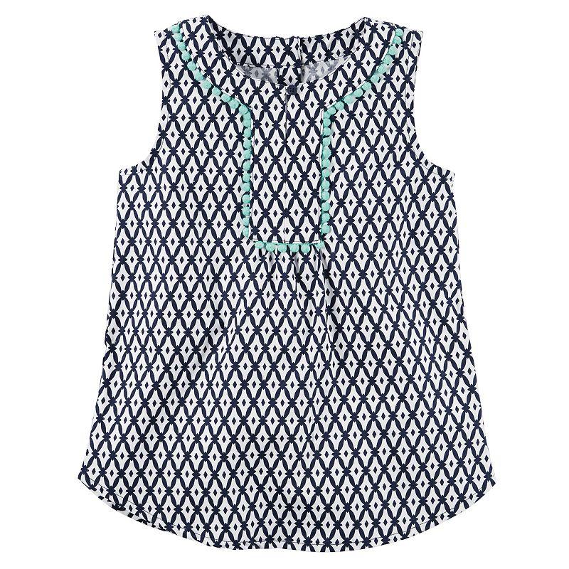 Baby Girl Carter's Geometric Pom-Pom Tunic