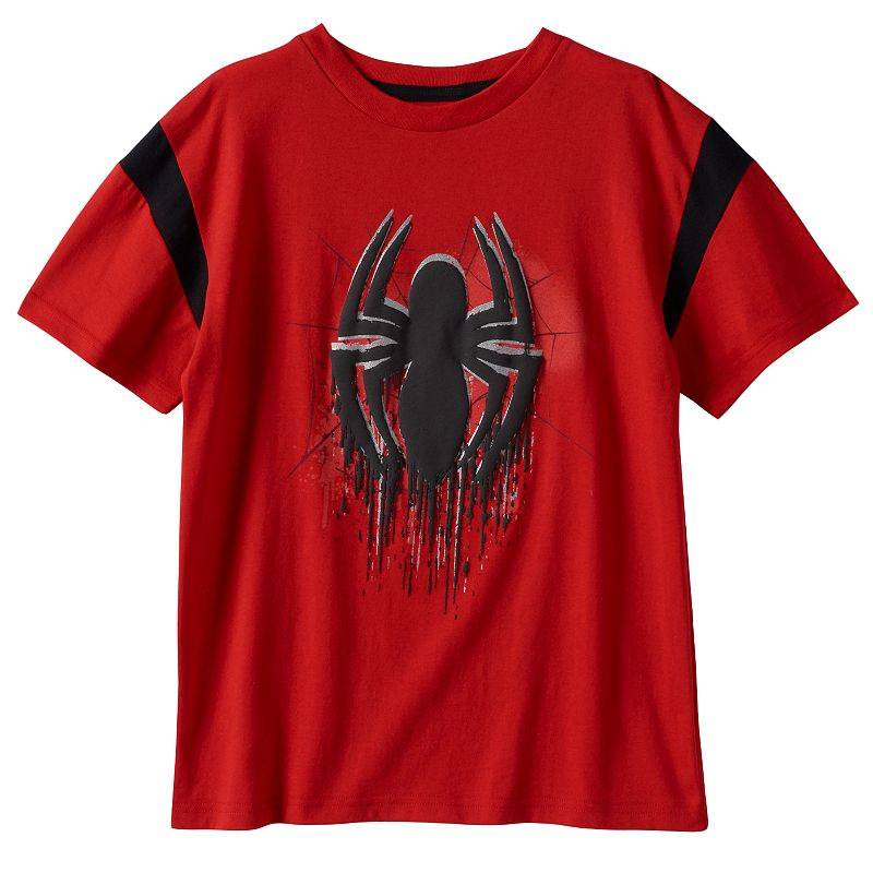 Boys 4-7 Marvel Spider-Man Foil Puff-Print Tee