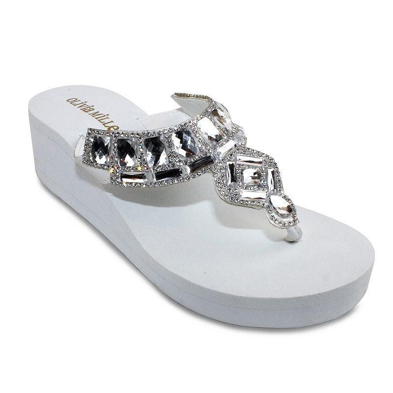 Olivia Miller Paris Women's Wedge Sandals