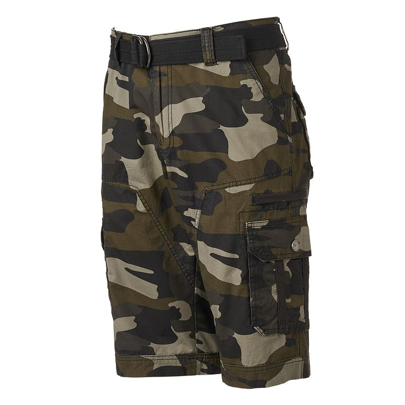 Men's XRAY Belted Camo Cargo Shorts
