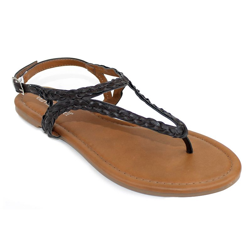 Olivia Miller Modena Women's Braided Sandals