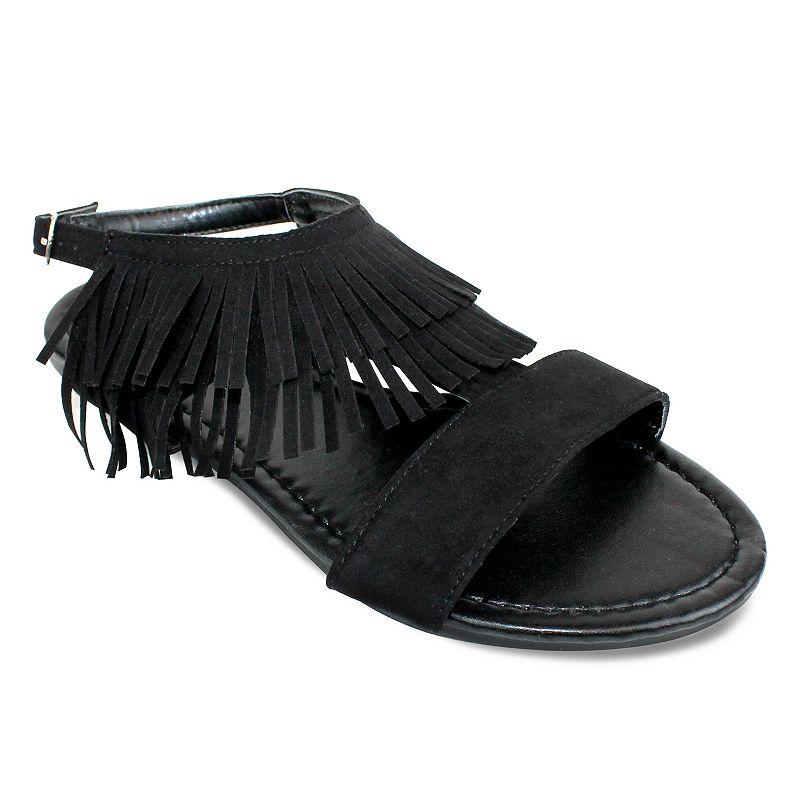 Olivia Miller Monte Women's Fringe Sandals