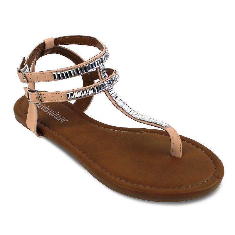 Olivia Miller Carrara Women's T-Strap Sandals
