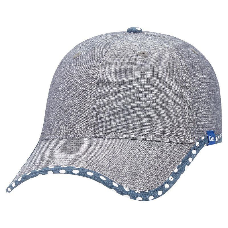Women's Keds Chambray Dotted Brim Baseball Hat