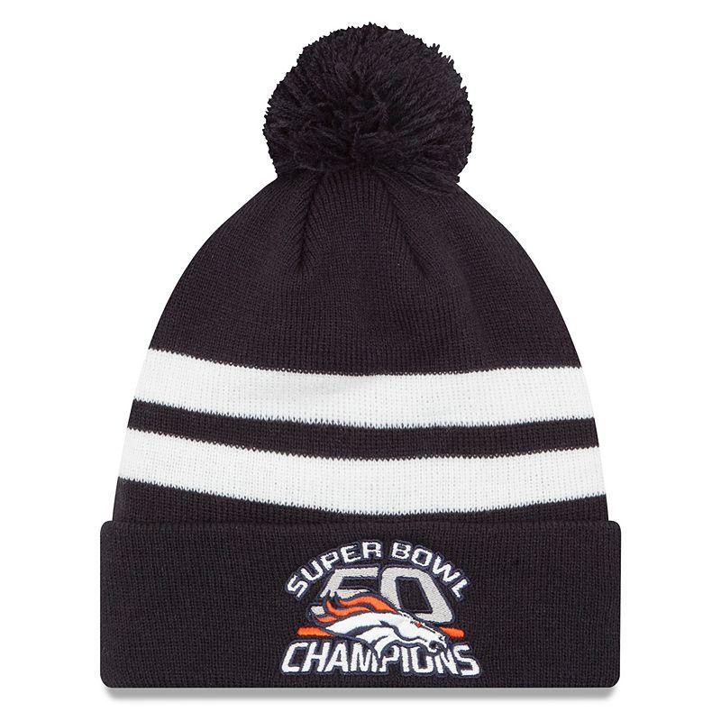 Adult New Era Denver Broncos Super Bowl 50 Champions Machine Knit Hat