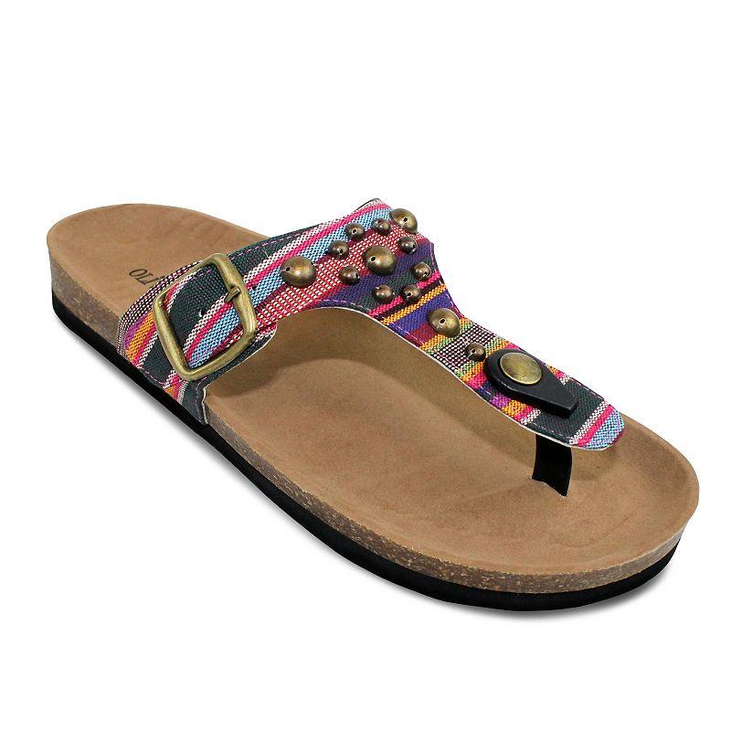 Olivia Miller Ricina Women's T-Strap Sandals