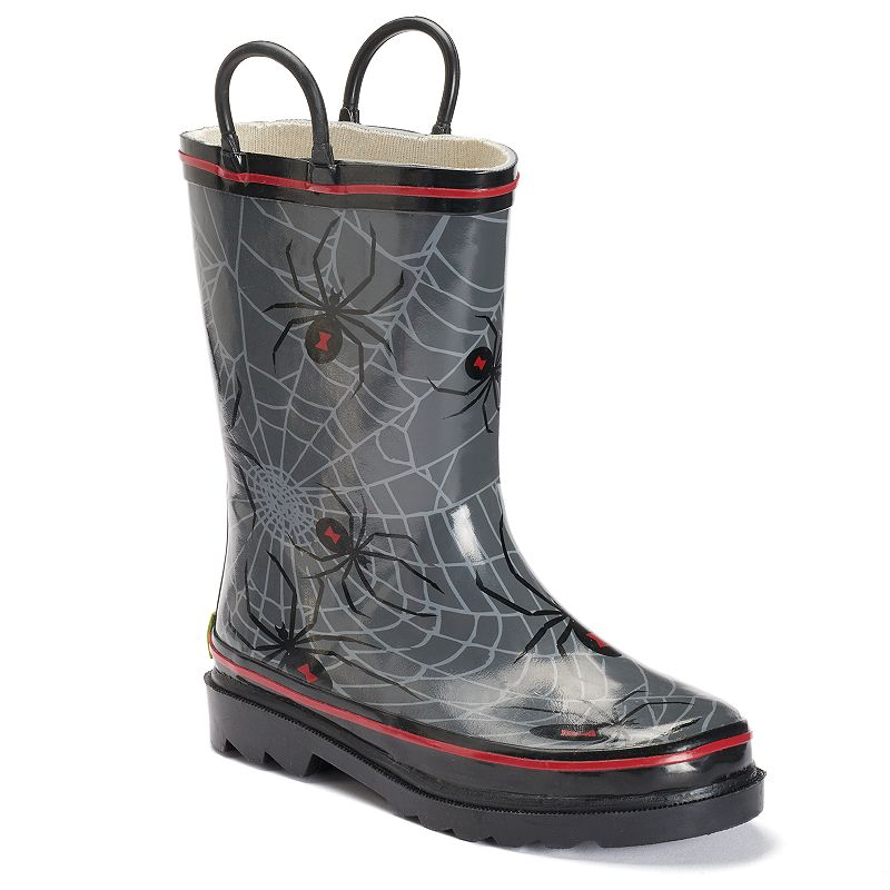 Western Chief Spider Web Crawl Toddler Boys' Waterproof Rain Boots