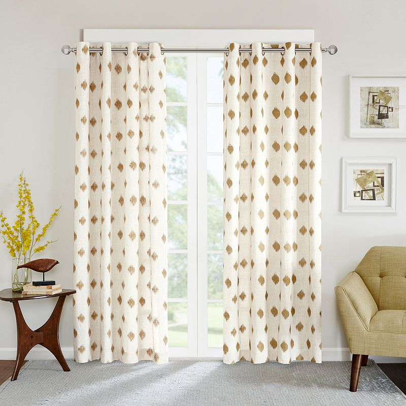 INK+IVY Ory Metallic Ikat Curtain