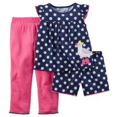 Baby Girl Carter's Polka-Dot Pajama Set
