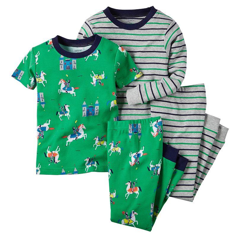 Toddler Boy Carter's Stripe & Print Pajama Set